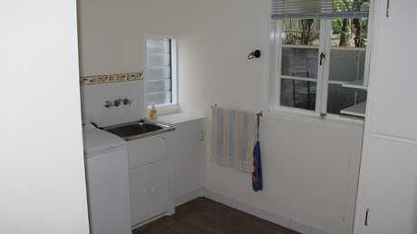 BEFORE: The laundry in the home at 64 Alma St, Paddington, before it was renovated. Picture supplied by Ray White.