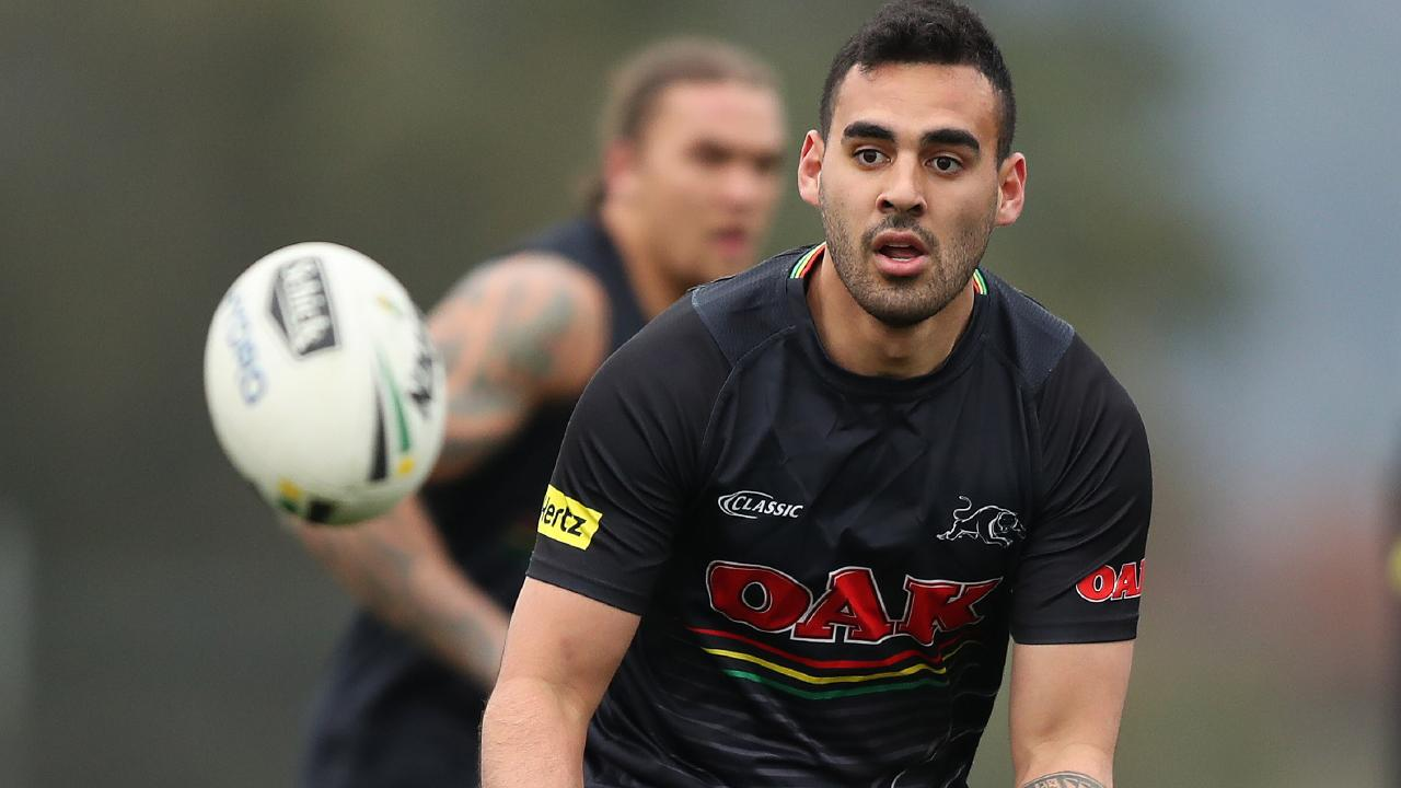 Tyrone May was stood down by the Penrith Panthers ahead of the trial game against Parramatta. Picture: Brett Costello