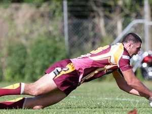 Injured footballer shows improvement