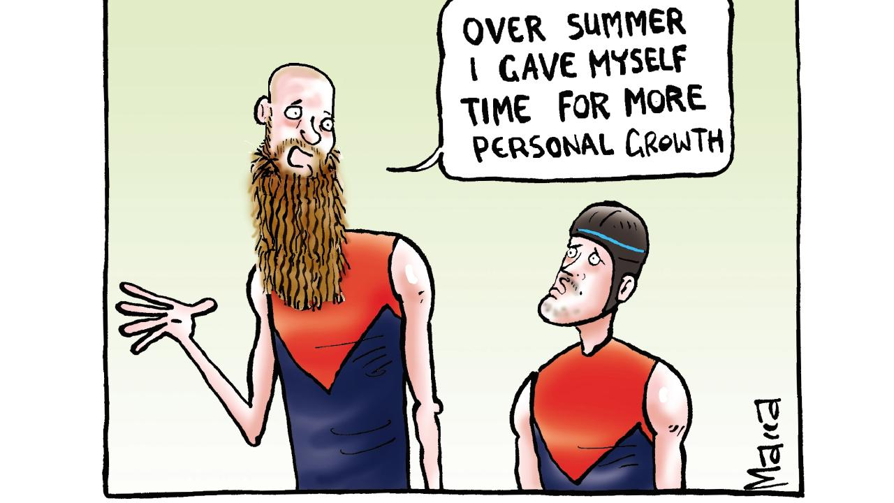 Macca take on the Demons.