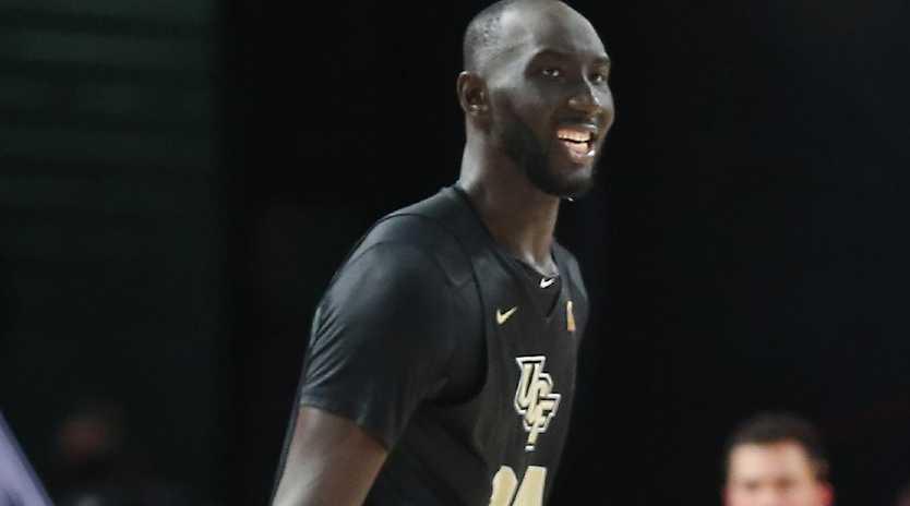 Tacko Fall of the UCF Knights is a rising stars. Picture: Bob Levey/Getty Images