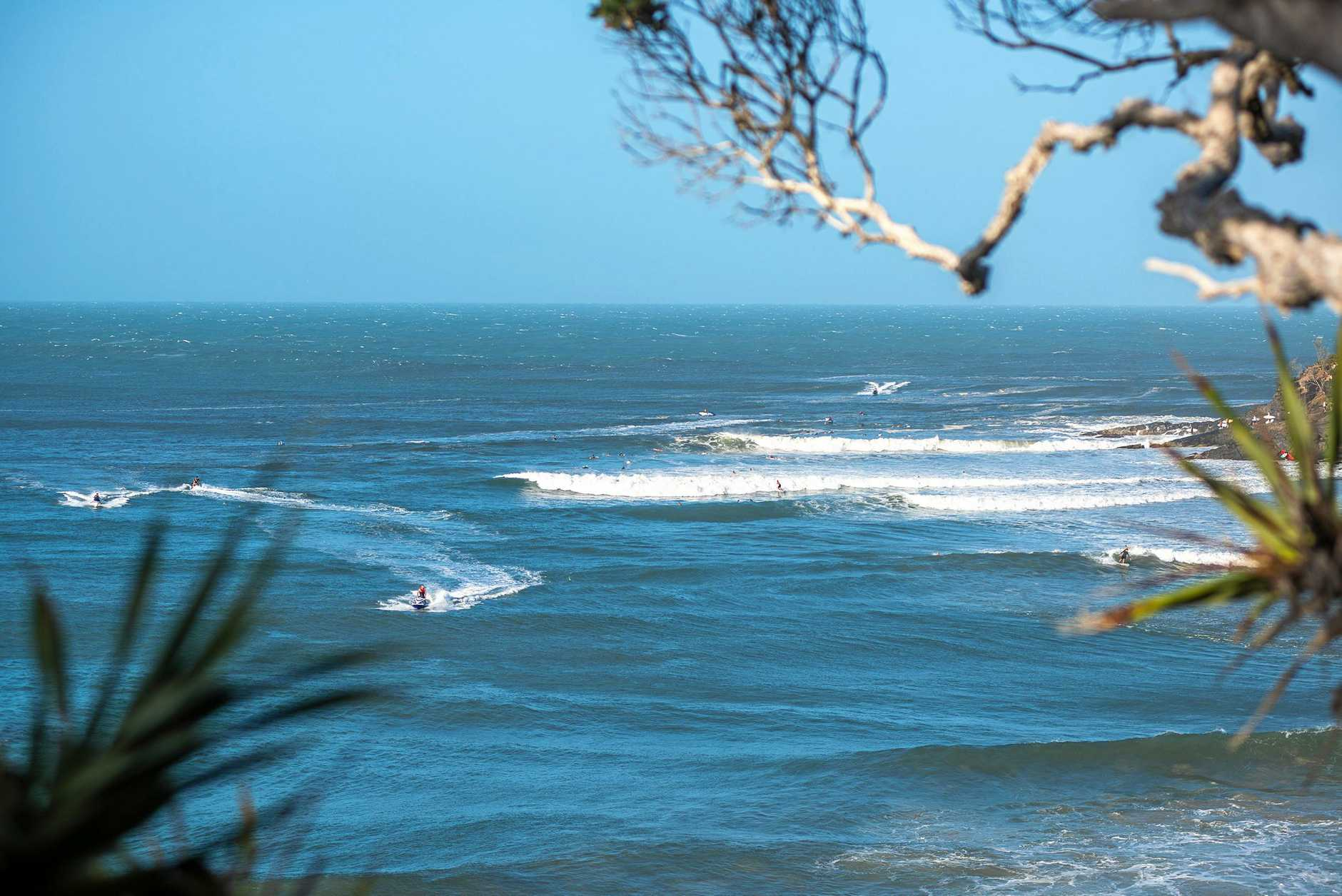 The smudge of jet ski wake spoiled the line up, pulling in surfers who took every wave on offer during the Oma swell.