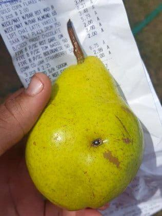 Lead pellet found in pear at St George IGA