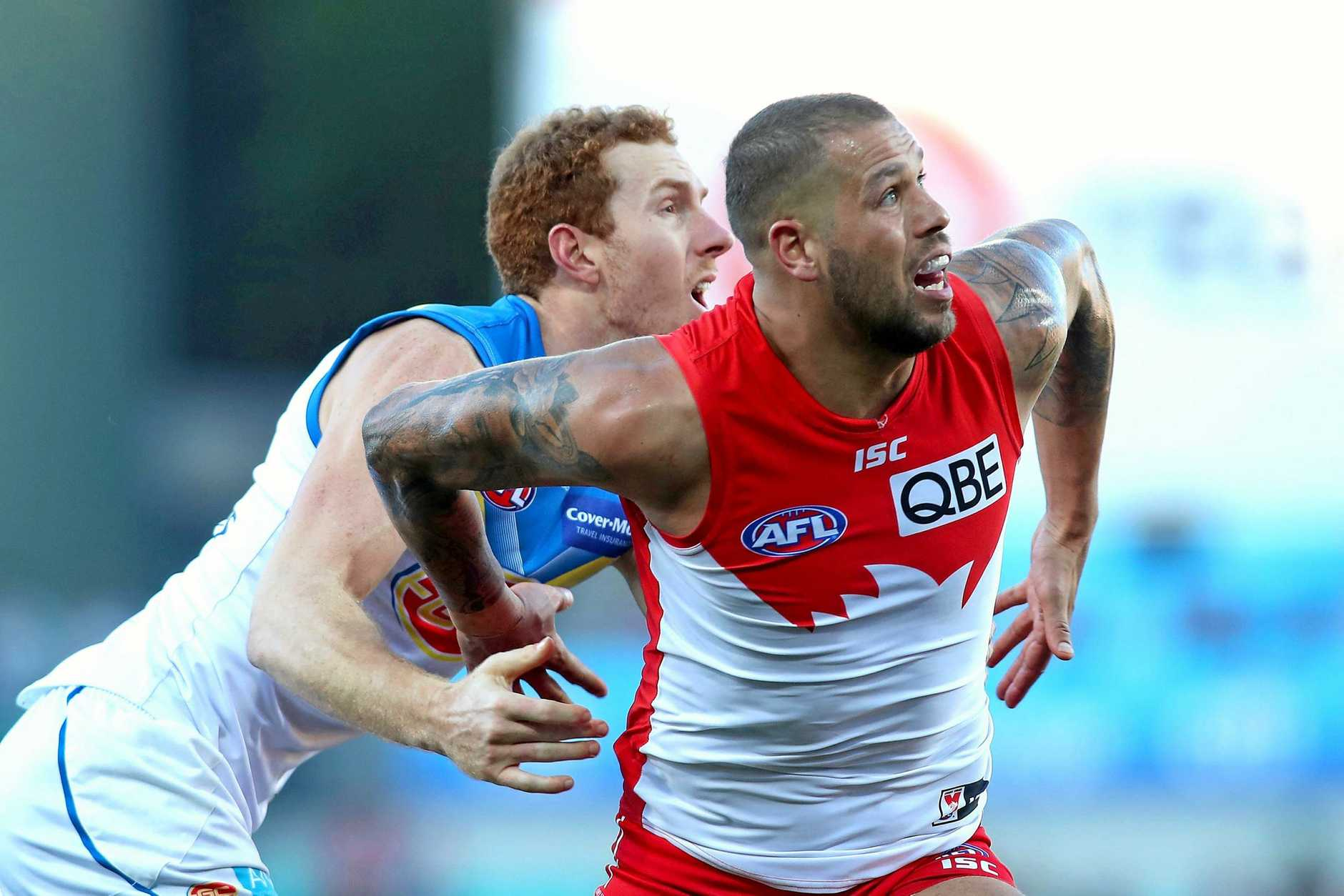 AFL AT OAKES: Will we see a repeat of this exciting match? On July 21, 2018 Lance Franklin of the Swans looks to take a mark during the round 18 AFL game between the Sydney Swans and the Gold Coast Suns at Sydney Cricket Ground.