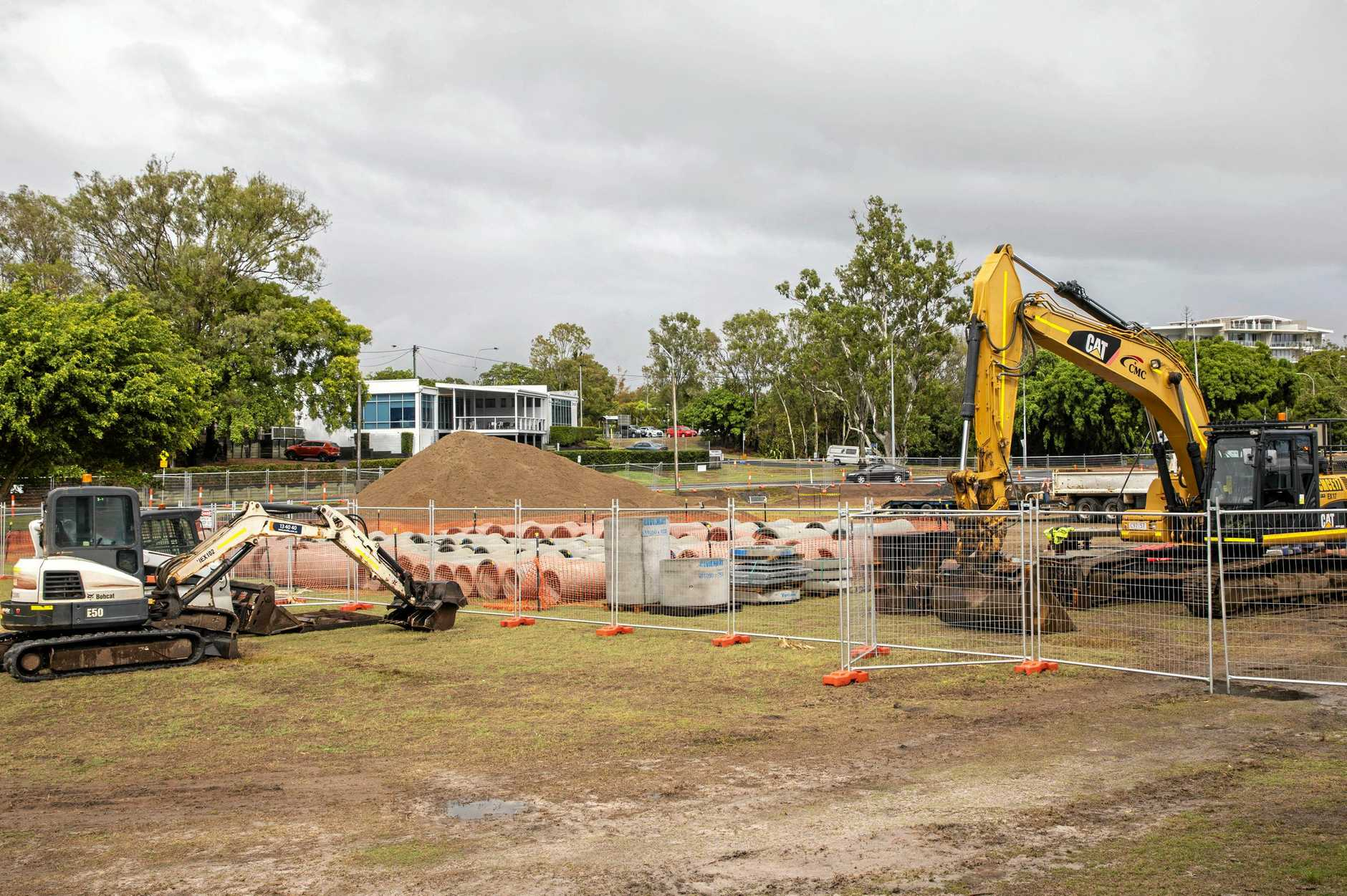 DRAINAGE WORKS: A $400,000 project to replace underground stormwater pipes which service the Pialba CBD has started.