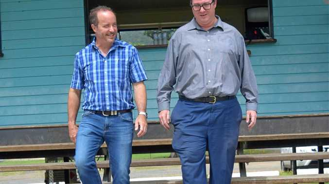 Whitsunday Sportspark president Justin Butler and Dawson MP George Christensen announced at least 30 new jobs for the region.
