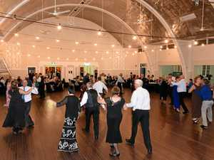 Mayor has a ball in support of small hall