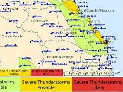 The Bureau of Meteorology are wary of a potentially severe storm for the Noosa region later today.