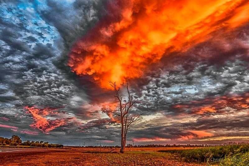 First sunset of autumn.