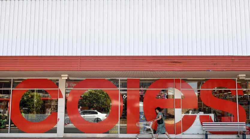 Signage at a Coles supermarket in Sydney,