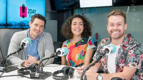 The 2Day FM breakfast show is hosted by Ed Kavalee, Ash London and Grant Denyer.