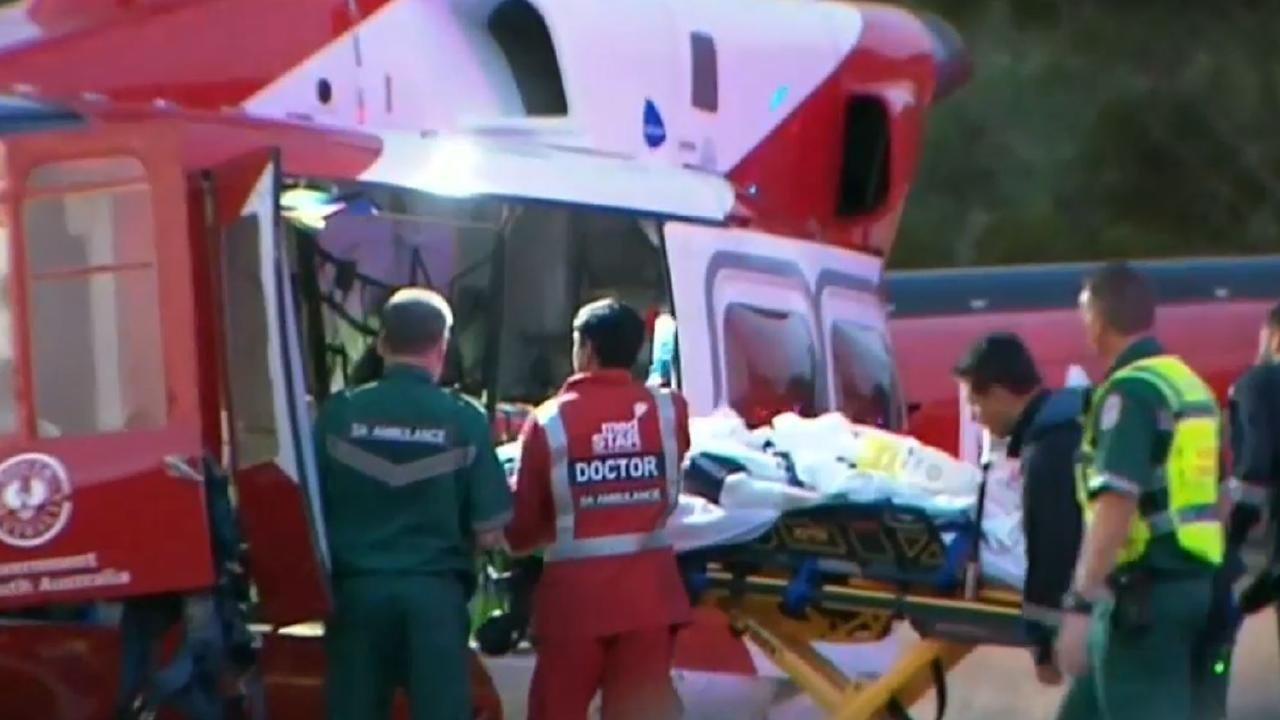 The man was left with critical injuries after the attack. Picture: 9News