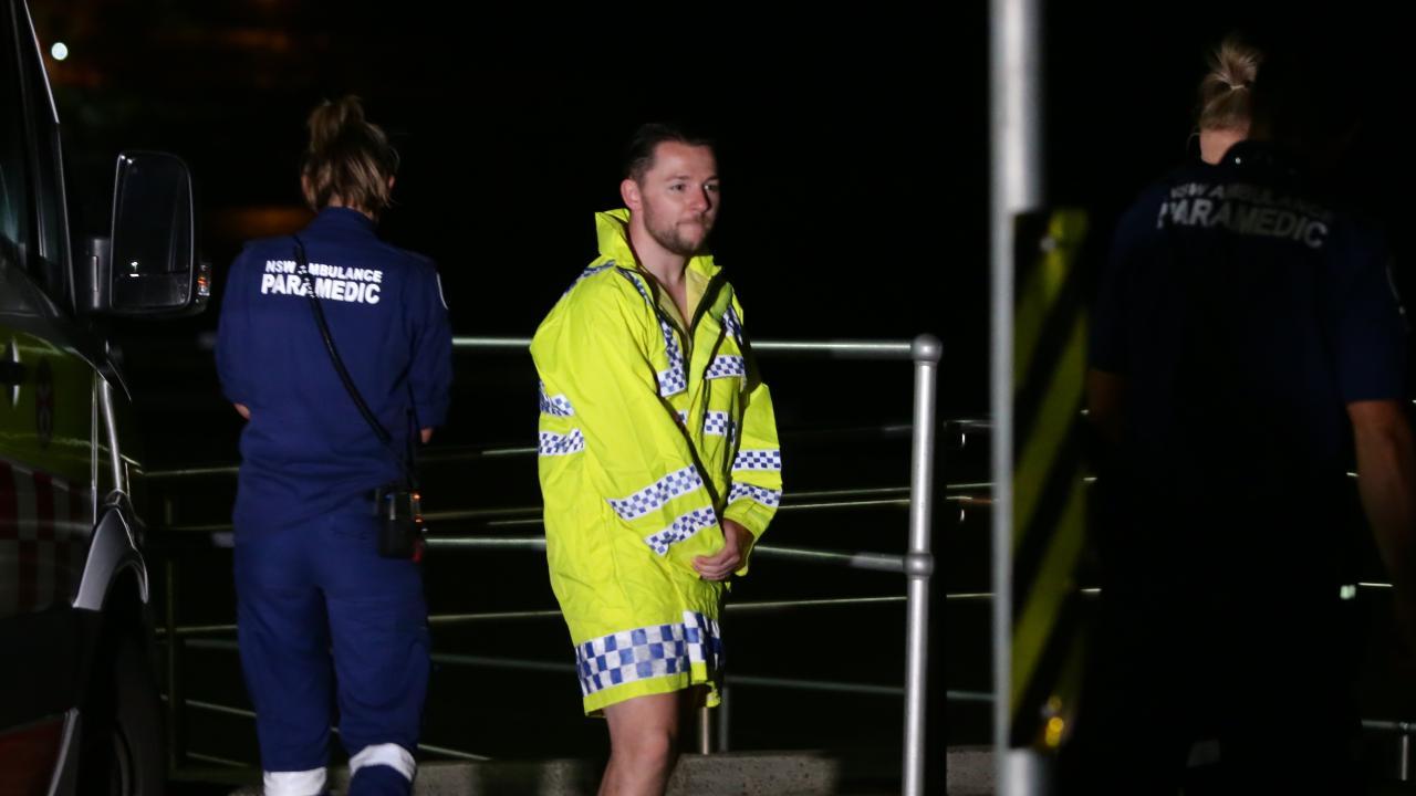 A drunken group of beachgoers took a dip in Bondi Beach at 4am. Picture: Bill Hearne