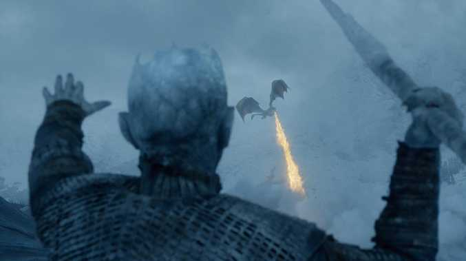It took 55 days of filming to produce one 90-minute episode of Game of Thrones .... devoted to the climactic battle between the living and the dead. Picture: HBO