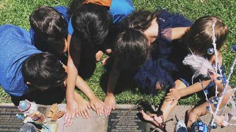 Last Christmas Day, the grieving family got together at the cemetery in honour of little Zayli.