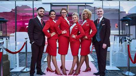 The female cabin crew staff will also be given pants as part of their uniform, rather than having to ask for them first. Picture: Virgin Atlantic