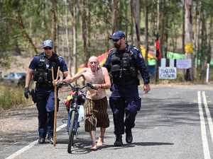 VIDEO: Police at Deebing Creek Protest