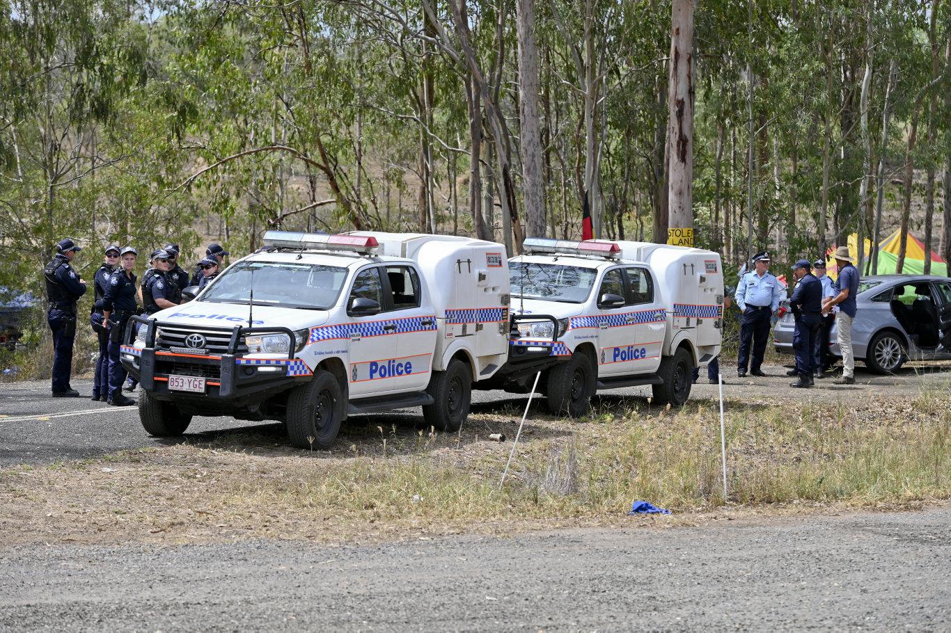 Deebing Creek Aboriginal protest camp broken up by police. Picture: Cordell Richardson