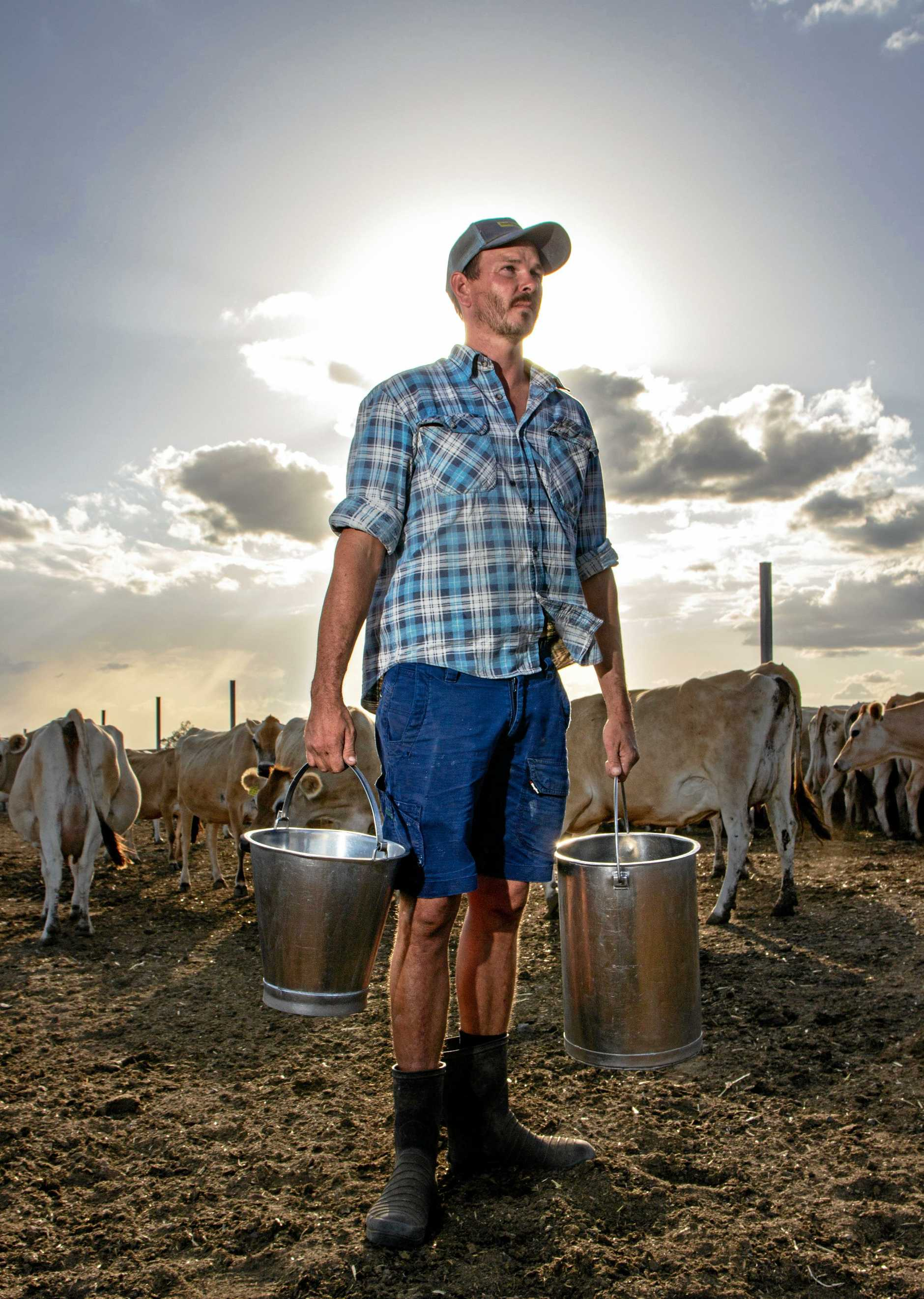 Mt Tarampa dairy farmer Richard Peterkin