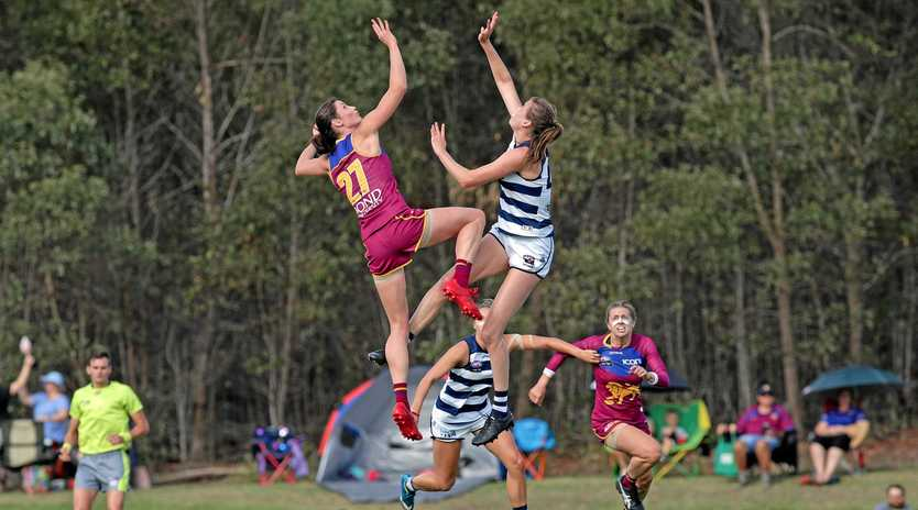 TRAIL BLAZER: Gympie and Brisbane Lions AFLW star Jessy Keeffe has been named in the league team of the week in just her second game.