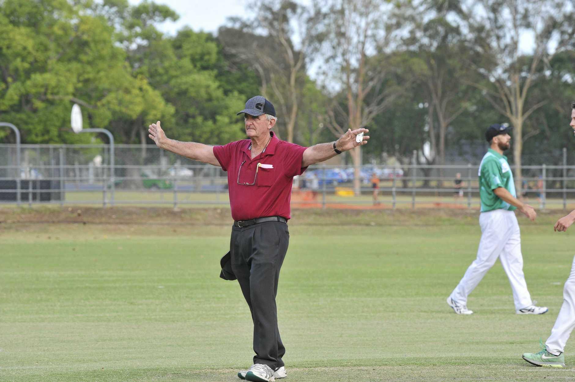 BIG CONTRIBUTION: Umpire Bruce Baxter .