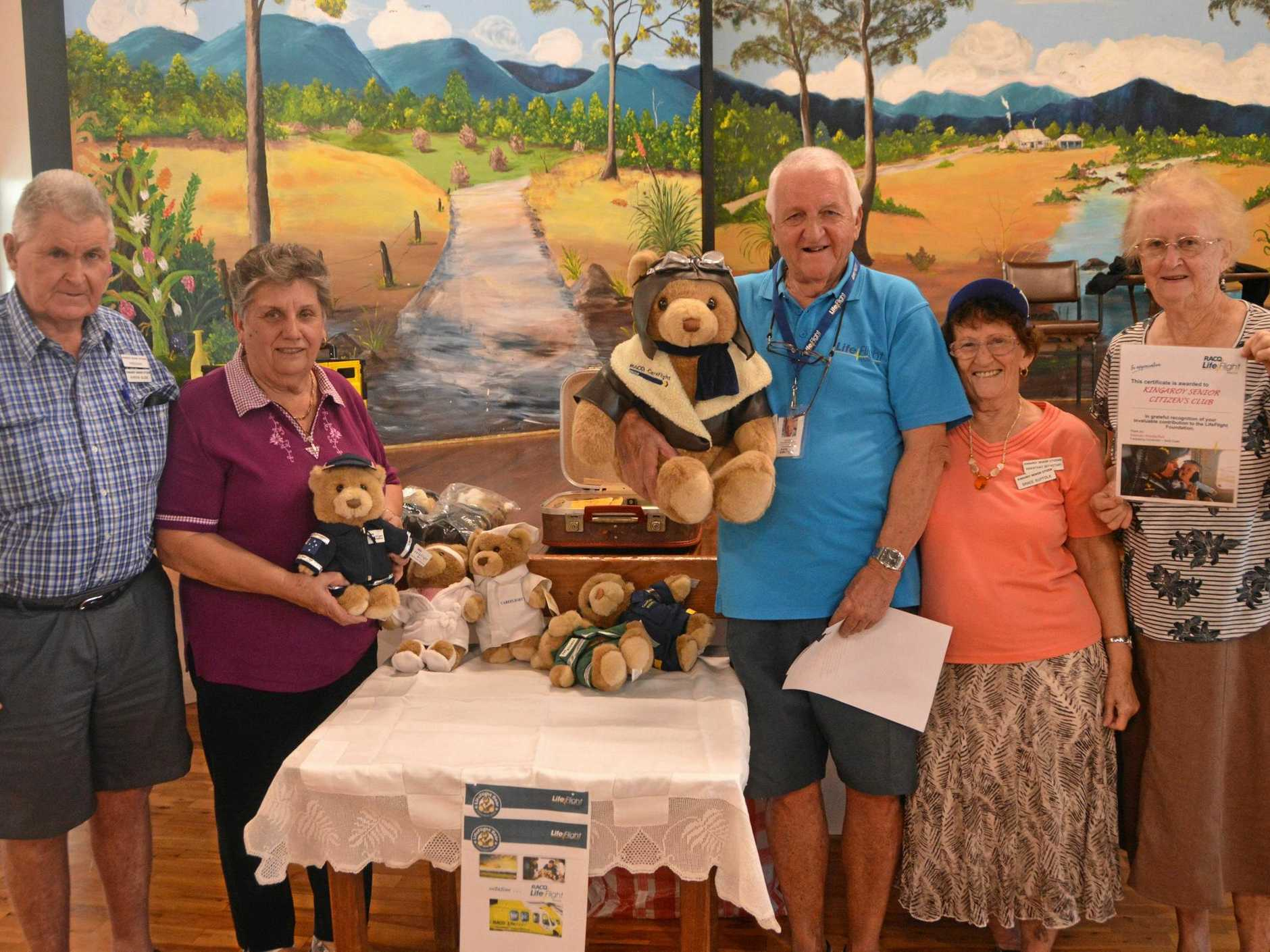 GIVING BACK: The Kingaroy Senior Citizens Club has donated $2000 to LifeFlight and $2000 to the Royal Flying Doctors Service.