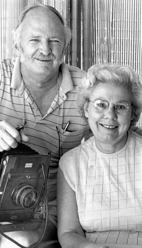 William (Bill) and Phyllis Robinson photographers and owners of Robinson Studios, Nambour, ca 1978.