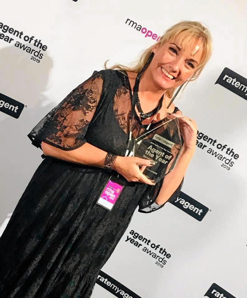 AWARD WINNER: Agents2go Bonnie Hollander won Agent of the Year for Queensland.