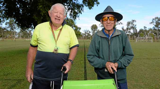 SHEER DEDICATION: Norbridge Park groundkeepers, Cec Newman and Bryan Graff have devoted almost forty years to the complex between them.