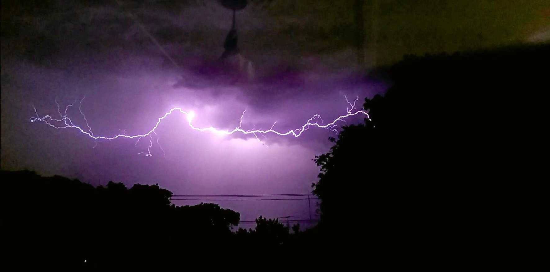 STORM: A MAN in his hospital in a stable condition after the effects of a lightning strike in South Mackay.