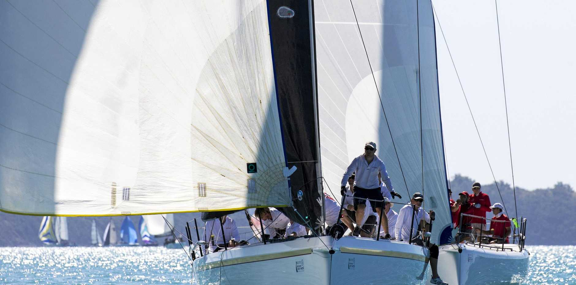 Victorie and Team Hollywood competing at last year's Airlie Beach Race Week.