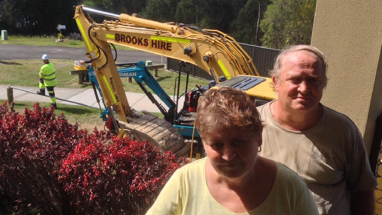 GCB Noel and Sherrell Faulkner refused to leave their Parkwood home despite machinery arriving for light rail stage two works.