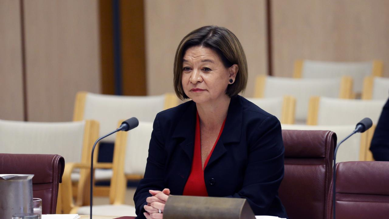 Former Managing Director Michelle Guthrie, at the inquiry in Parliament House in Canberra. Inquiry on matters related to allegations of political interference in the ABC. Picture Gary Ramage