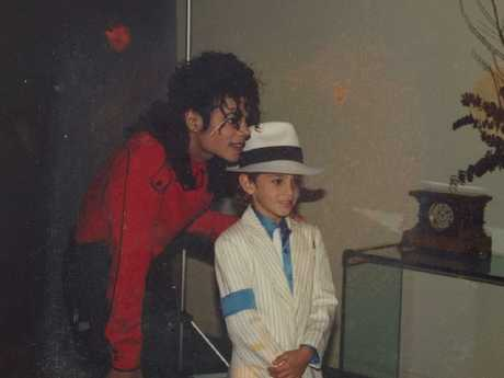 Wade Robson with Michael Jackson. Picture: HBO/Dan Reed