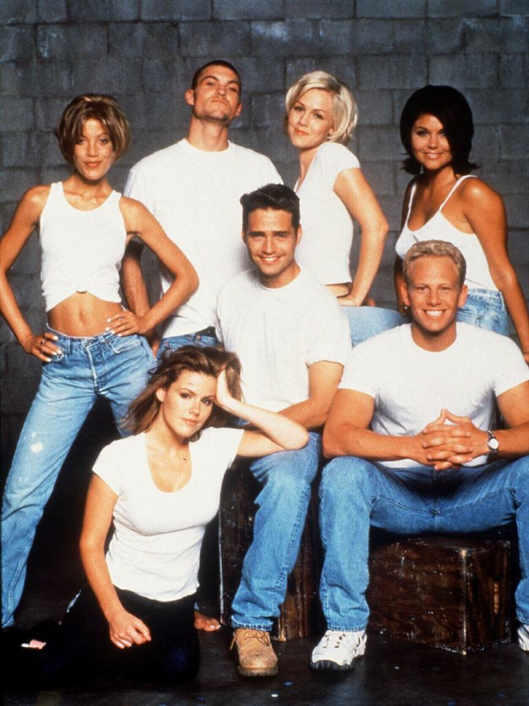 The cast of Beverly Hills 90210. Picture: Supplied