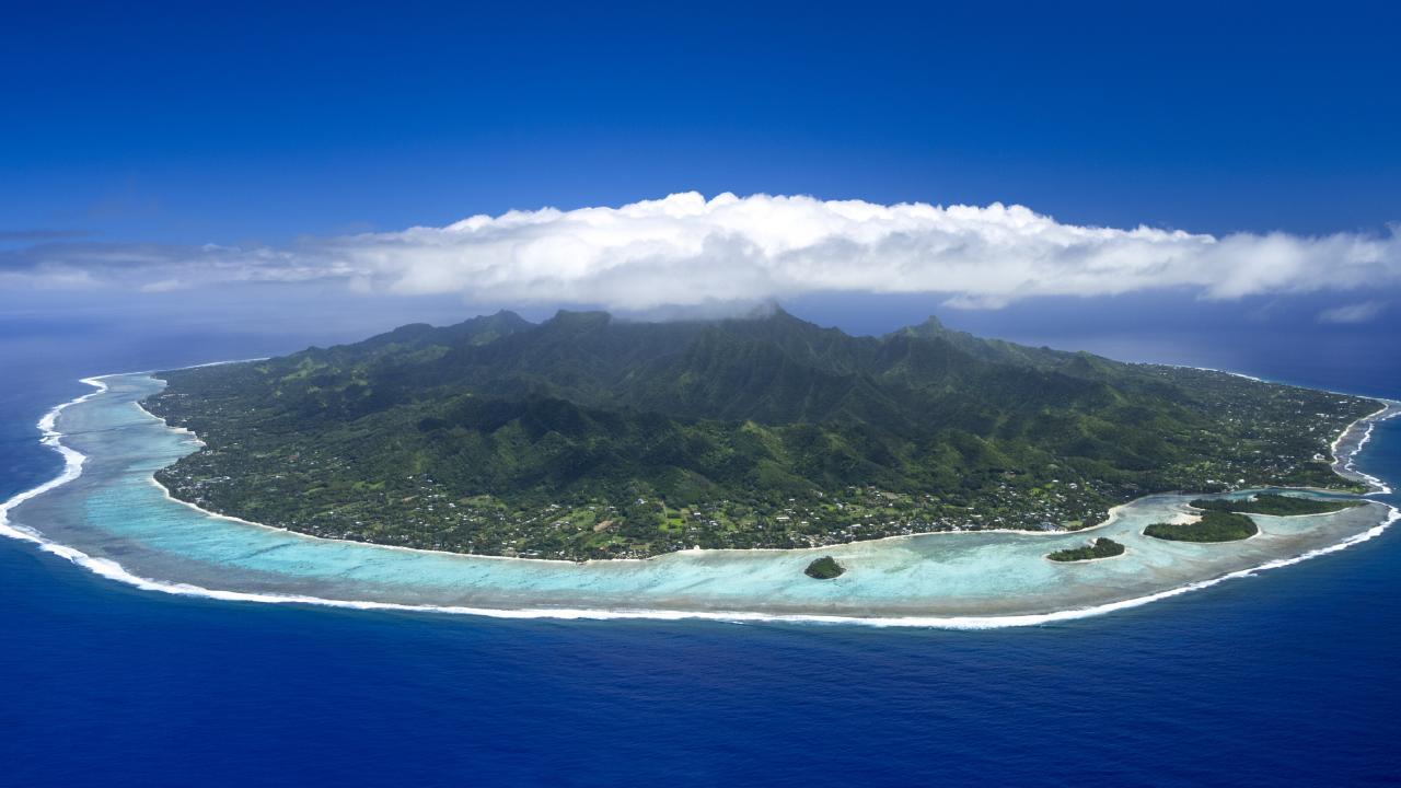Scenic shot of Rarotonga. Picture: Cook Islands Tourism/David Kirkland