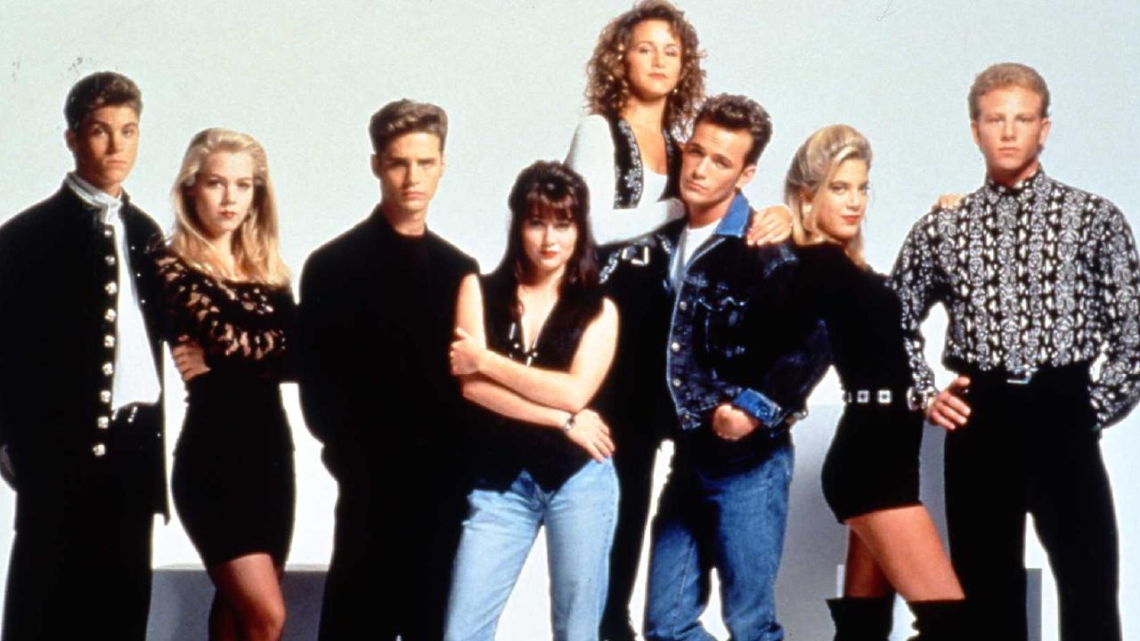 The cast of the original Beverly Hills, 90210. Picture: Supplied
