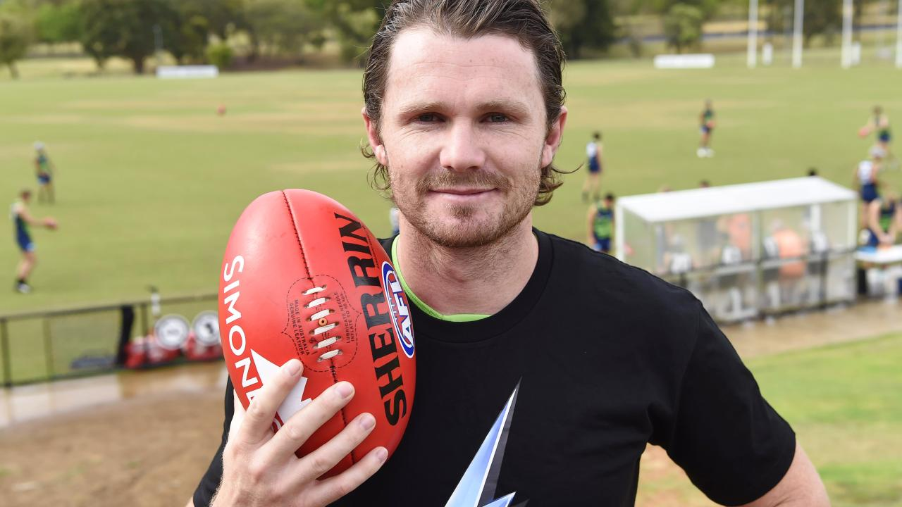 Geelong's Patrick Dangerfield is sure to be a popular SuperCoach AFL pick. Picture: Alan Barber
