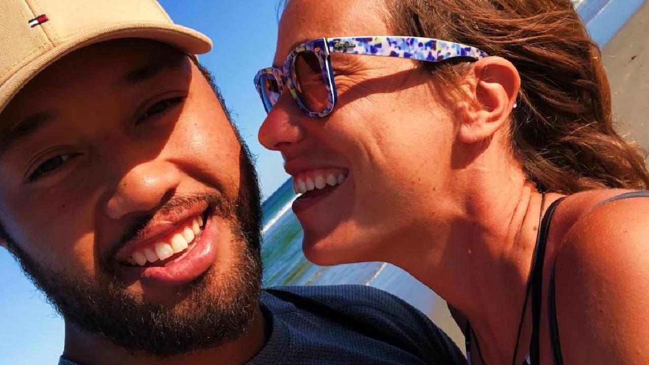 Frankie Avalon Fonohema with his partner in Bali.