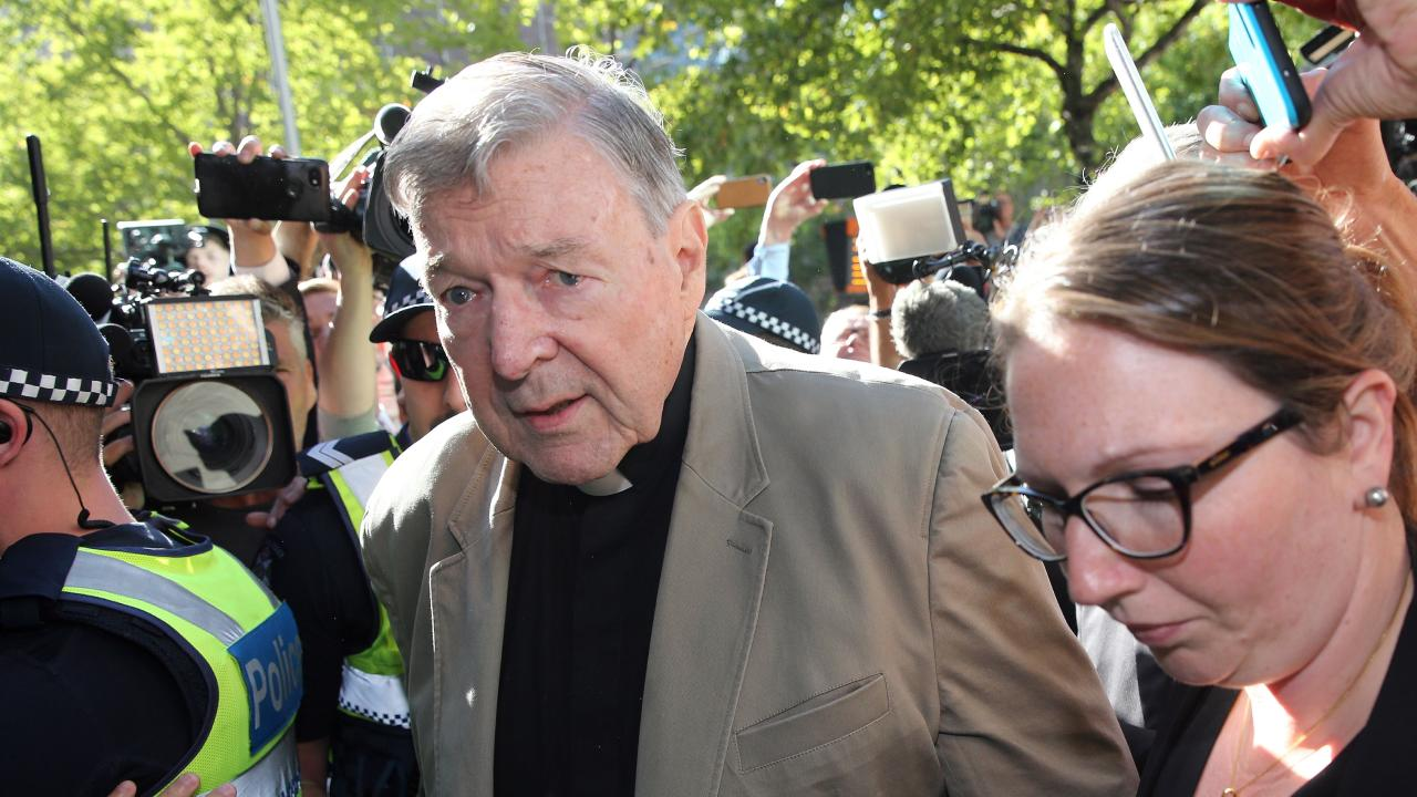 Cardinal George Pell makes his way to the court in Melbourne on February 27, 2019. Picture: Con Chronis/AFP