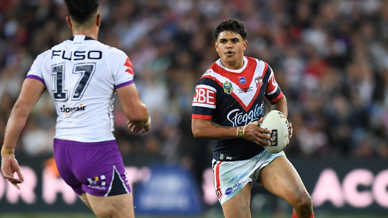 Latrell Mitchell's star is about to burn brighter than just about any other player in the NRL. Picture: AAP Image/Joel Carrett