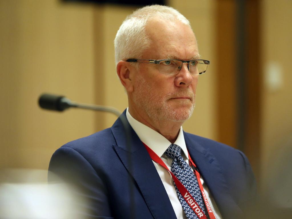 Justin Milne at the inquiry in Parliament House in Canberra. Picture Gary Ramage