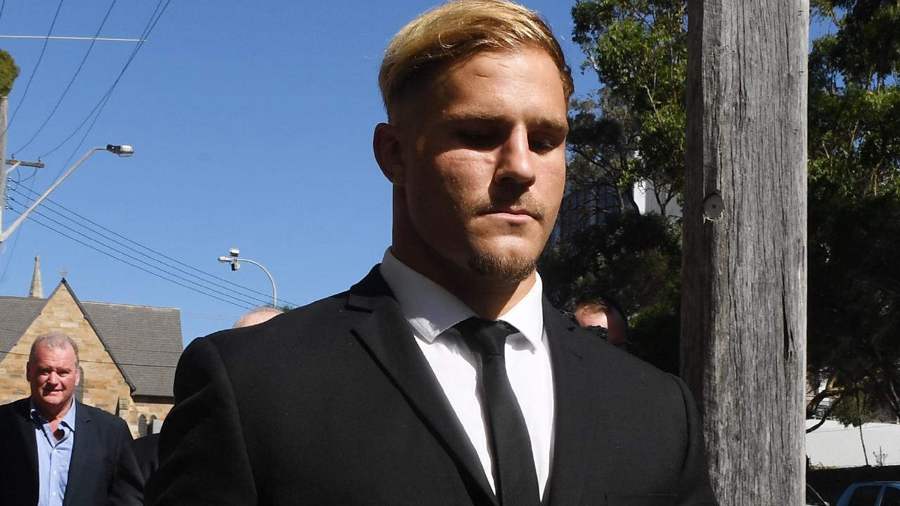 St. George Illawarra Dragons player Jack de Belin will appeal against the NRL ruling. (AAP Image/Dean Lewins)