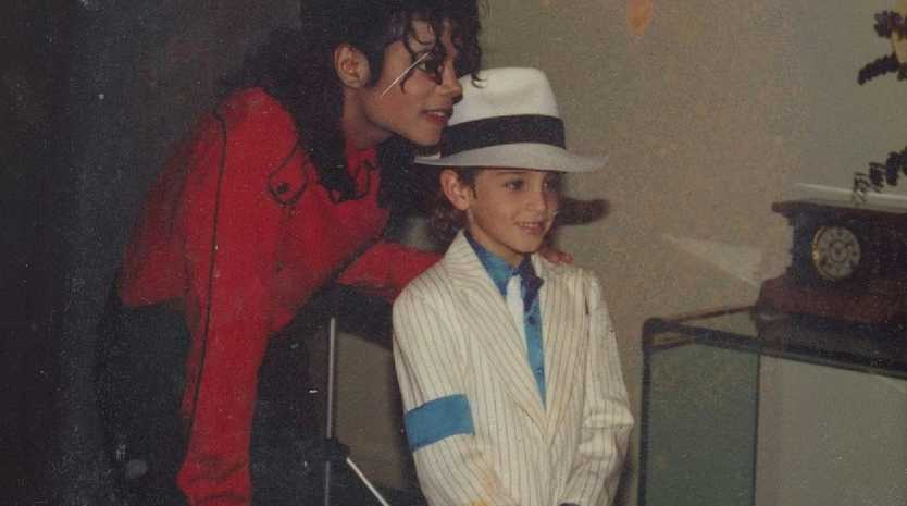 Wade Robson with Michael Jackson as shown in the HBO documentary Leaving Neverland. Picture: HBO/Dan Reed
