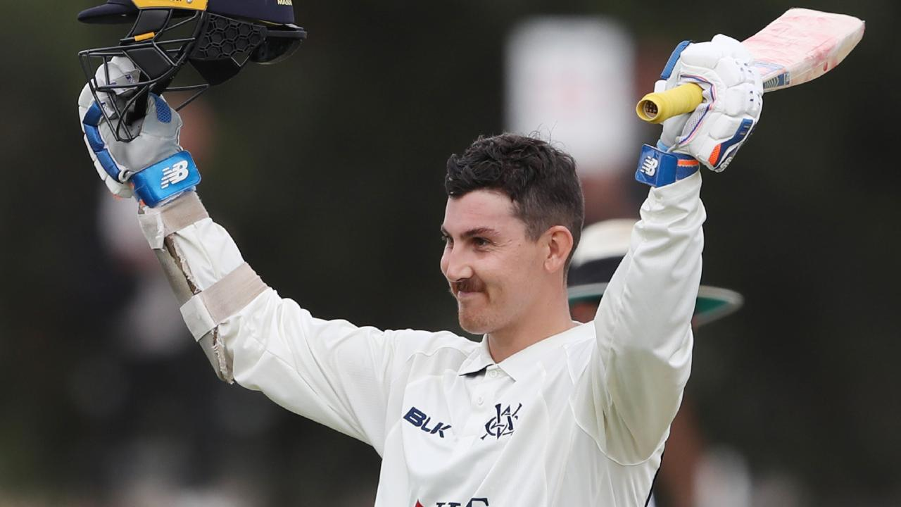 Nic Maddinson has scored a ton in each of his first-class games for Victoria.