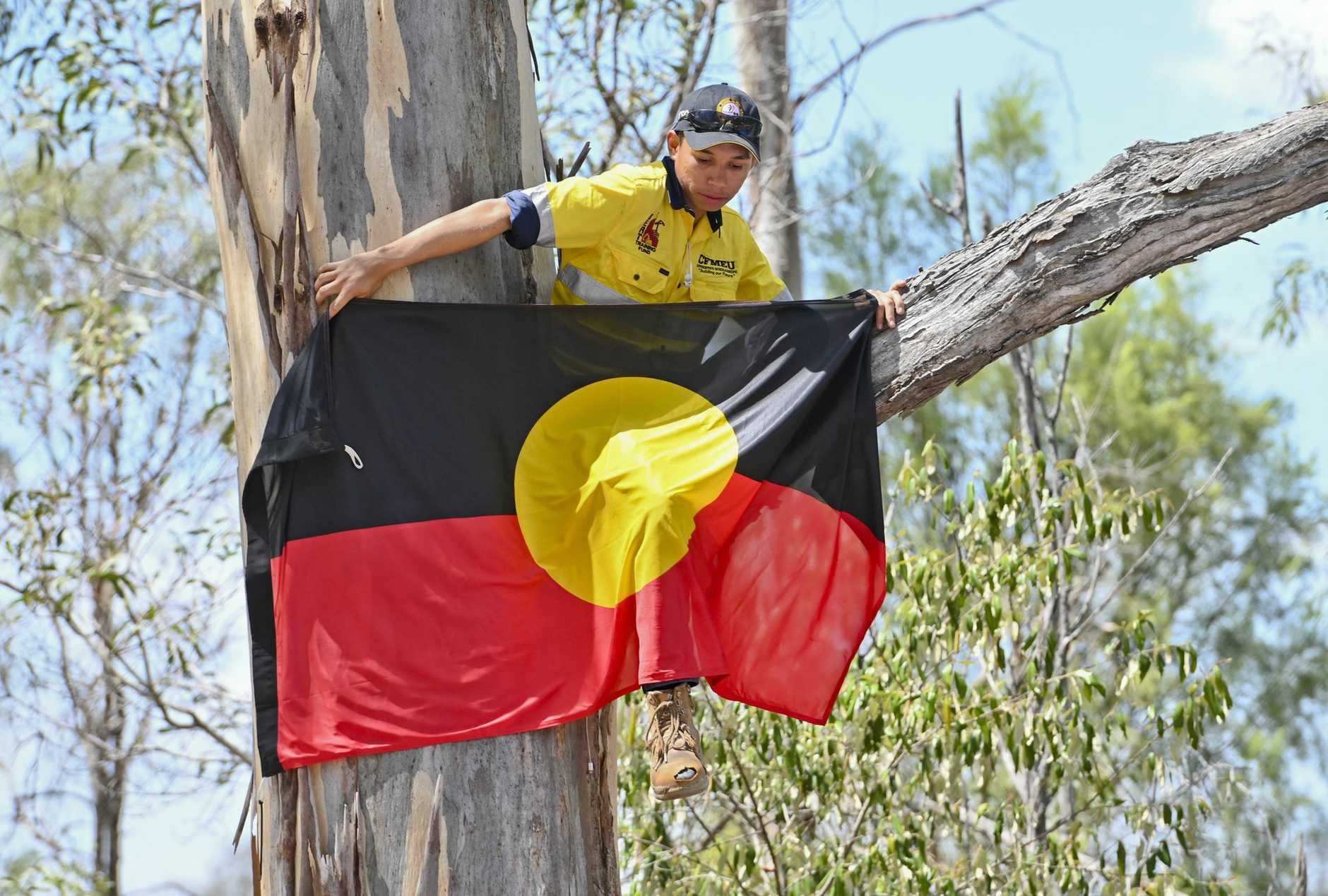 Deebing Creek Aboriginal protest camp broken up by police. Picture: Cordell Richardson