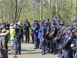 Tensions remain at Deebing Creek after riot-like scenes