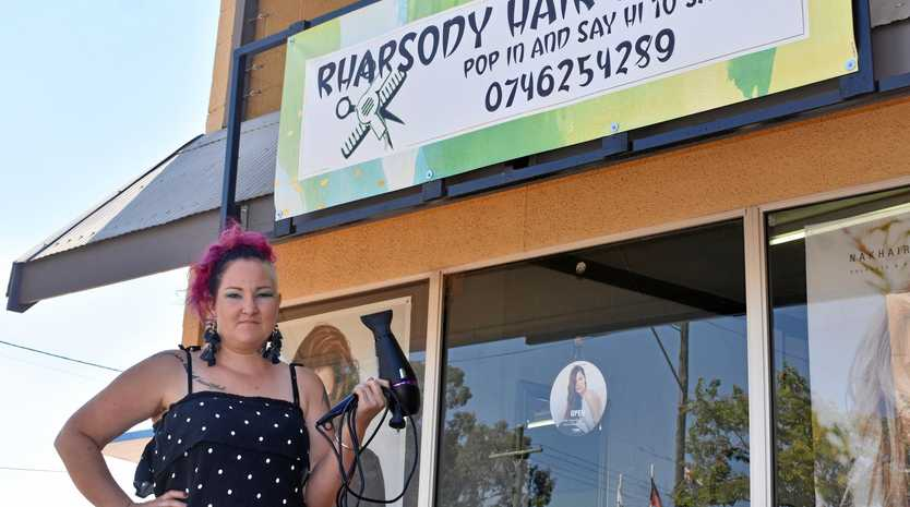 CARING AND SHARING: Sam Monagle from Rhapsody Hair Studio is donating $1 from every $10 spent at her salon to a farming family.