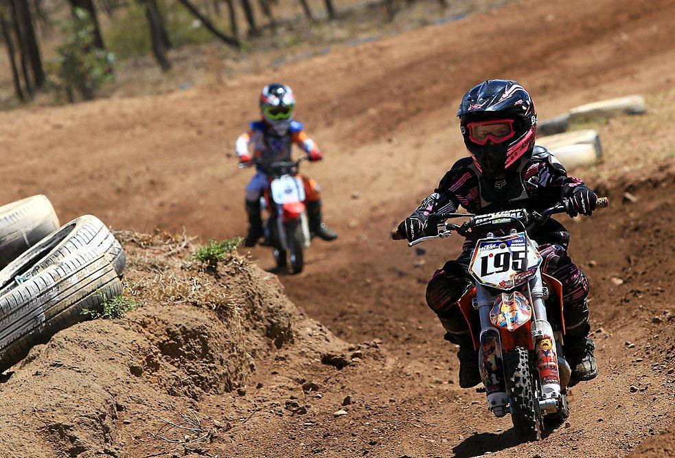 GIRL POWER: Mackenzie Stewart at Emerald Junior Motocross Club's first club day last weekend.