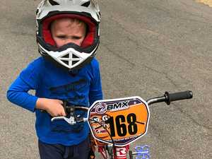 Newbies get on their bike at Rocky BMX track